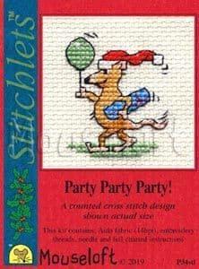 Mouseloft Party Party Party! Card Christmas Stitchlets cross stitch kit